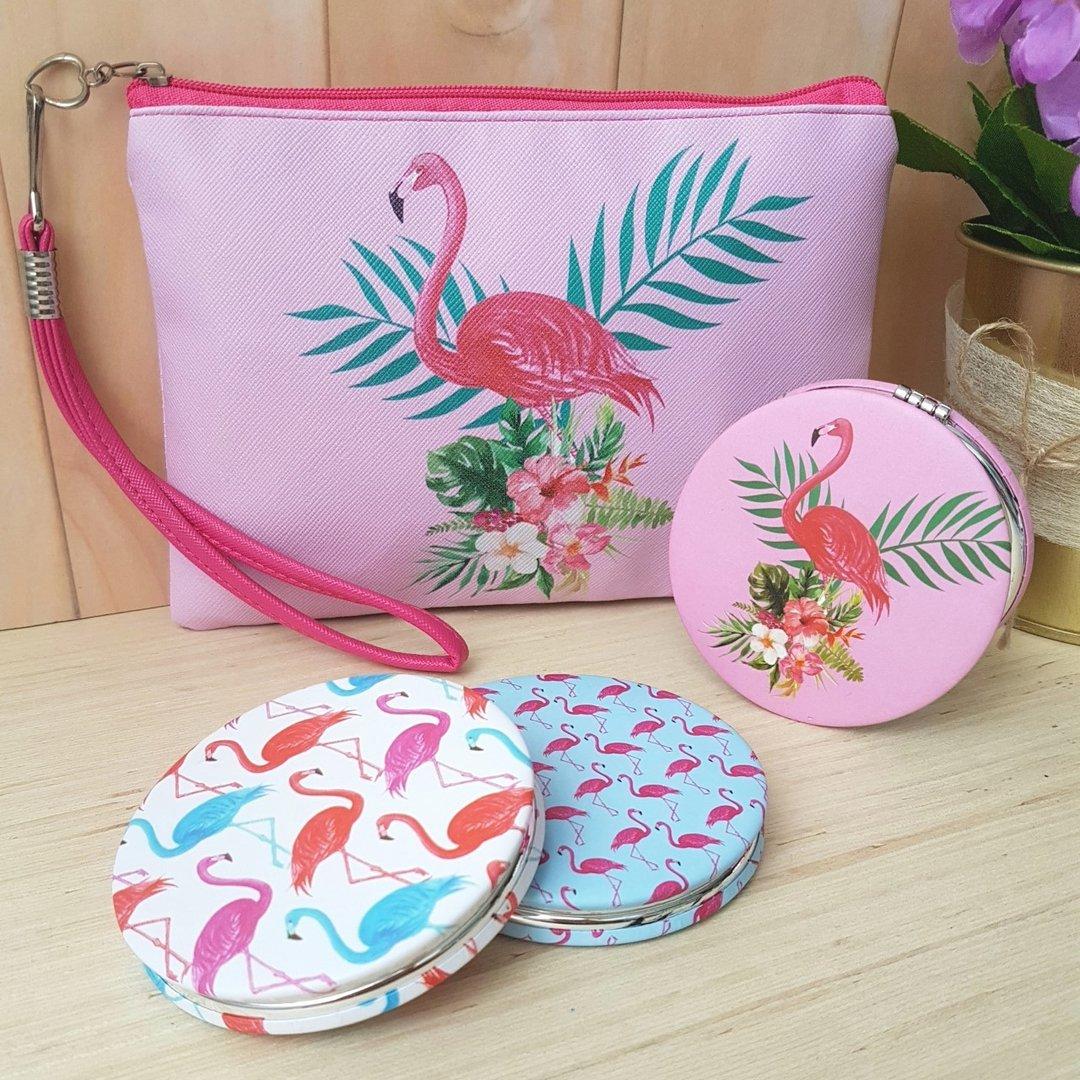 8fffcd27c Neceser con espejitos flamingos; Neceser con espejitos flamingos ...